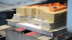 Printed book production line Royalty Free Stock Photography