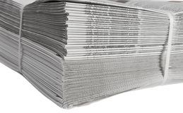 Printed and bound newspapers. Printing house Royalty Free Stock Photo