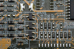 Printed-circuit board. The printed-circuit board, it is photographed by close up Royalty Free Stock Photos