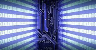 Printed circuit board. Binary number system royalty free illustration
