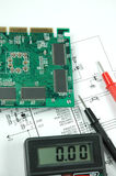 Printed circuit board. And electronic meter Royalty Free Stock Images