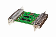 Printed circuit board. Printed circuit board with RS232 interface Stock Image