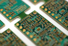 Printed Circuit Board. S still connected as they would be during manufacture Royalty Free Stock Image