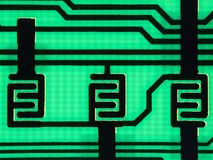 Printed circuit board. Close-up printed circuit board Stock Image