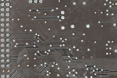 The printed-circuit board. With electronic components macro background Royalty Free Stock Photos