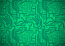 Printed Circuit Board. Illustration of a green printed circuit board Royalty Free Stock Image