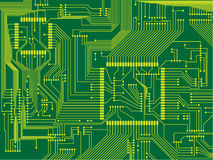 Printed Circuit Board. Vector illustration of a printed circuit board Royalty Free Stock Photos
