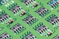 Printed Circuit Board. Close up stock photo