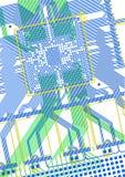 Printed circuit board. True CAD render Royalty Free Stock Image