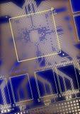 Printed circuit board. True CAD render Royalty Free Stock Images