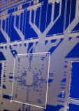 Printed circuit board. True CAD render Royalty Free Stock Photos