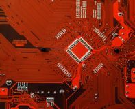 Printed circuit board. Computer motherboard royalty free stock image