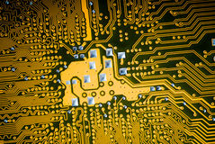 Printed circuit board. Back side of a printed circuit board royalty free stock image