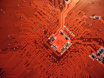 Printed circuit board. Computer motherboard stock photos
