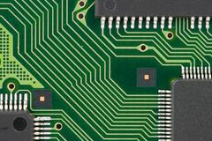 Printed circuit board. Close-up view of printed circuit board royalty free stock images