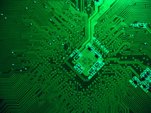Printed circuit board. Computer motherboard stock photography