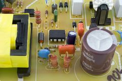 Printed-circuit board  background Stock Photo