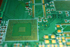 Printed circuit board background Royalty Free Stock Photos