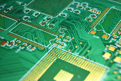 Printed circuit board background Stock Image