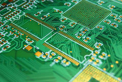 Printed circuit board background Stock Photos