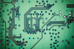 Printed circuit board background Royalty Free Stock Photography
