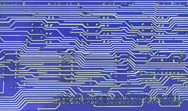Printed-circuit-Board computer. Computer electronic circuit. Use for background or texture Royalty Free Stock Photos