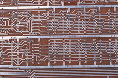 Printed Circuit Board. At day Royalty Free Stock Photography