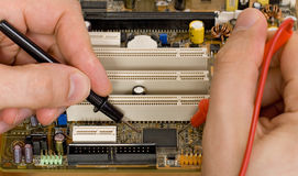 Printed circuit board diagnostics. And measurement stock photos
