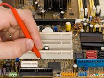 Printed circuit board diagnostics Royalty Free Stock Image