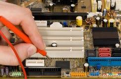 Printed circuit board diagnostics. And measurement royalty free stock photos