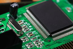 Printed Circuit Board with electrical components Stock Image