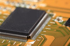 Printed Circuit Board with electrical components Stock Images