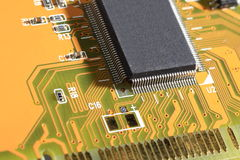 Printed Circuit Board with electrical components Stock Photography