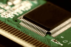 Printed Circuit Board with electrical components Stock Photo