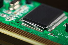 Printed Circuit Board with electrical components Royalty Free Stock Image