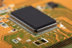 Printed Circuit Board with electrical components Royalty Free Stock Photos
