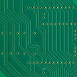 Printed circuit board, electronic components plate macro closeup, background texture copy space Royalty Free Stock Image