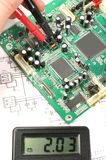 Printed circuit board and electronic meter Stock Photos