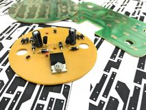 Printed circuit board. Electronic, Technology Can be attributed to your work. Presenting Future Technology Concepts royalty free stock photos