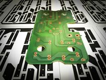 Printed circuit board. Electronic, Technology Can be attributed to your work. Presenting Future Technology Concepts stock image