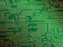 Circuit Board. Printed circuit board. Electronics circuit vector background illustration Royalty Free Stock Image