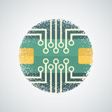 Printed Circuit Board Icon Stock Photography