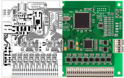 Printed circuit board and its computer design Stock Image