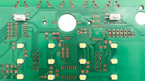 Printed circuit board layout royalty free stock photo