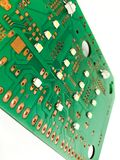 Printed circuit board layout. Electronic, Technology Can be attributed to your work. Presenting Future Technology Concepts stock image