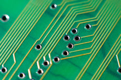 Printed circuit board, macro Stock Photo
