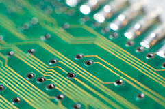 Printed circuit board, macro Stock Photos