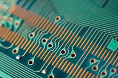 Printed circuit board, macro Royalty Free Stock Images