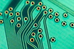 Printed circuit board, macro Royalty Free Stock Photos