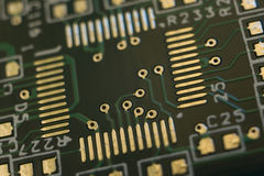 Printed circuit board. Moscow. Russia. 4 december 2016 royalty free stock photography